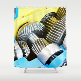 Gear speed reducer Shower Curtain