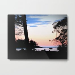 Pink Skies at Night - Deception Pass State Park, Whidbey Island, WA Metal Print
