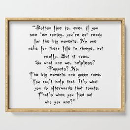 Buffy - Big Moments Quote Serving Tray