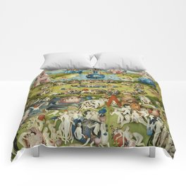 Hieronymus Bosch The Garden Of Earthly Delights Comforters