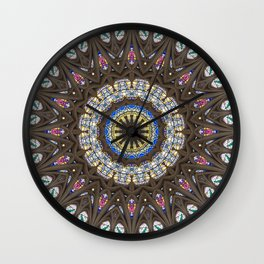Glass Cathedral Medieval Builders Three Wall Clock