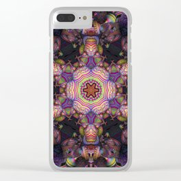 Psychedelic Star Clear iPhone Case