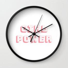 Girl Power Pink Feminism Wall Clock