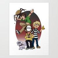 pewdiepie Art Prints featuring Sup Bro Audience  by Always Dreah Illustration