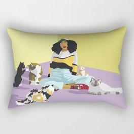 Cat Sitter Rectangular Pillow