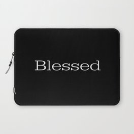 BLESSED Black & White Laptop Sleeve