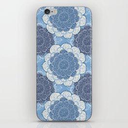 Lacy Blue & Navy Mandala Pattern  iPhone Skin
