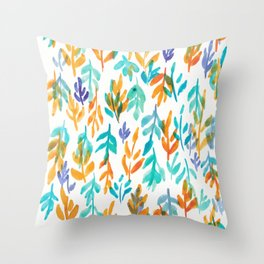 180726 Abstract Leaves Botanical 23|Botanical Illustrations Throw Pillow