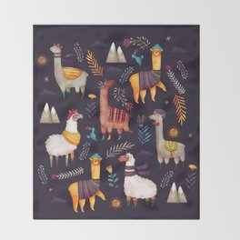 Llamas Throw Blanket