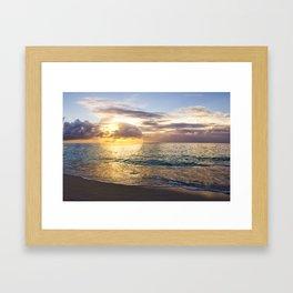 Bubble Sunset Cayman Islands Framed Art Print