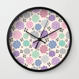 Abstract colorful pastel figure/object pattern  Wall Clock