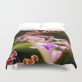 Macro Nature Photography: Abstract Alien Orchid Duvet Cover