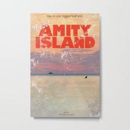 Amity Island Tourism board Metal Print
