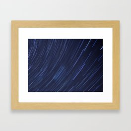 Star Trails Framed Art Print