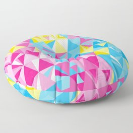 Geometric Pattern 01 • Pansexual Flag Floor Pillow
