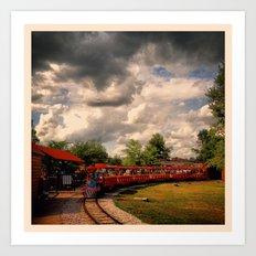 Zoo Train Art Print