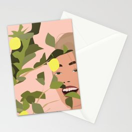 Just me and the lemon tree. Stationery Cards