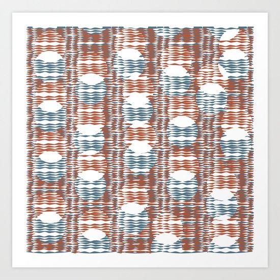Waves and Circles Art Print