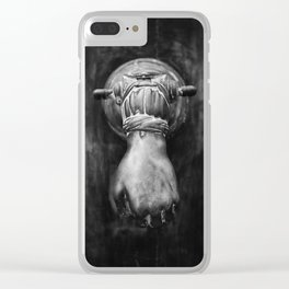 The hand on the door Clear iPhone Case