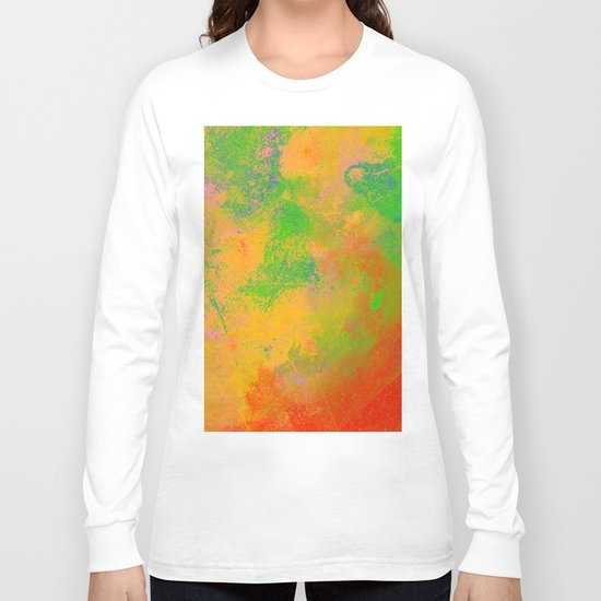 Taste The Rainbow - Multi coloured, abstract, textured painting Long Sleeve T-shirt