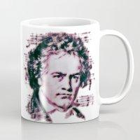 beethoven Mugs featuring Beethoven by Zandonai