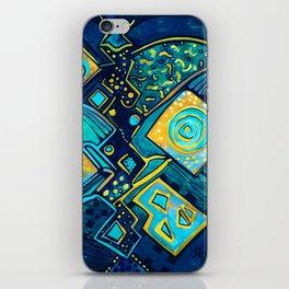 GALAXY SPARKLES BLUE iPhone Skin