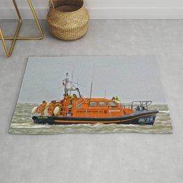 Hoylake Lifeboat (Digital Art) Rug