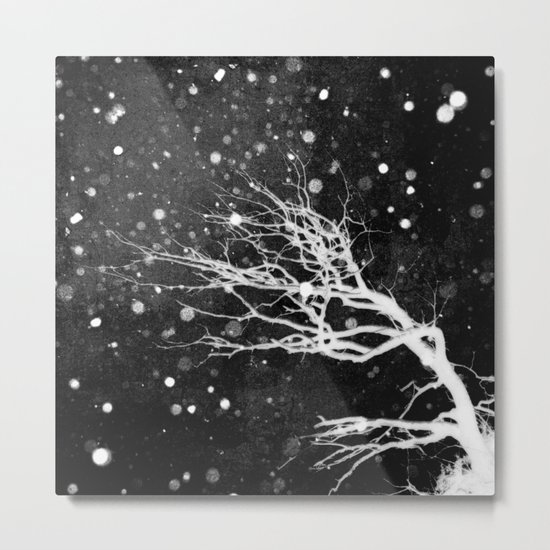snow on black Metal Print
