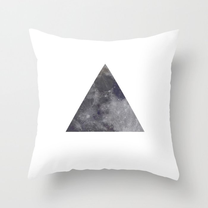 Simple Moon Triangle Throw Pillow