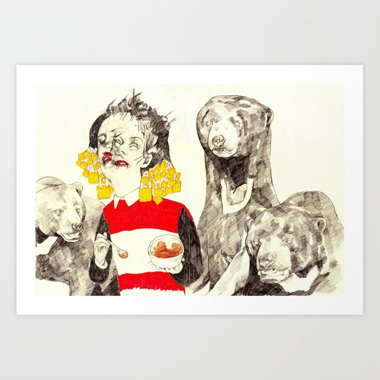 Goldilocks and the Three Bears Art Print