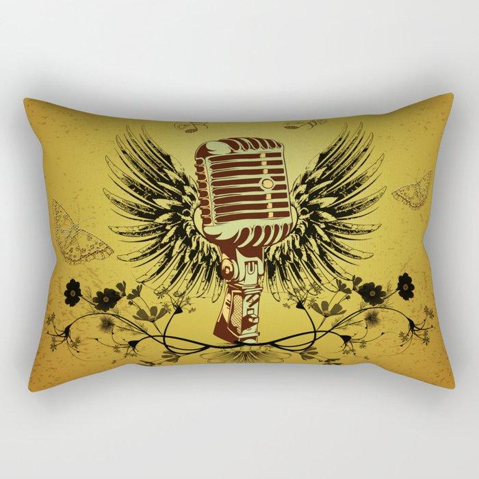 Music, microhpone  Rectangular Pillow