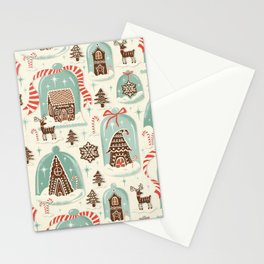 Gingerbread Village Cream Stationery Cards