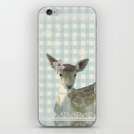 SNOW FAWN & BOW iPhone Skin