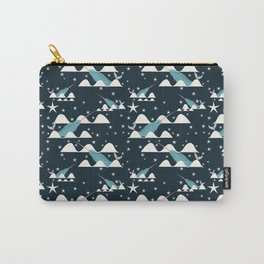 narwhal in ocean blue Carry-All Pouch