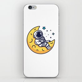 On The Moon iPhone Skin