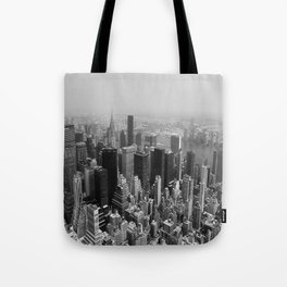 New York City Black and White Tote Bag