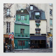 The Streets of Paris, France. Canvas Print