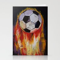 soccer Stationery Cards featuring Soccer by Michael Creese