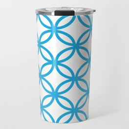 Interlocking Blue Travel Mug