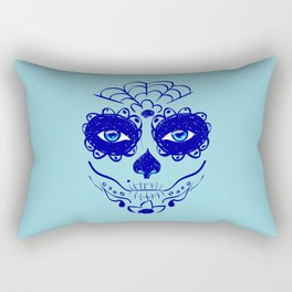 Dark blue sugar skull Rectangular Pillow