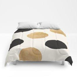 BLACK GOLD DOTS Comforters