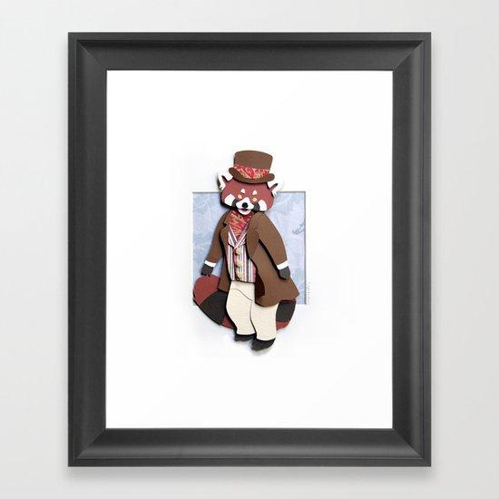 Mr. Red Panda Framed Art Print