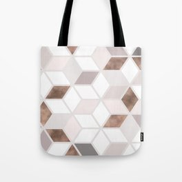 Golden Cubes II Tote Bag