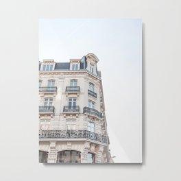 Parisian Building Paris France Photo Art Print | Europe Street Architecture Travel Photography Metal Print