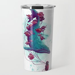 Whale Balloons Travel Mug