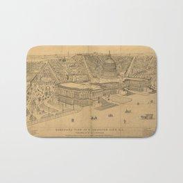 Vintage Pictorial Map of Washington D.C. (1872) Bath Mat