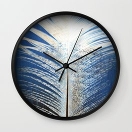 Feather Vignette Wall Clock