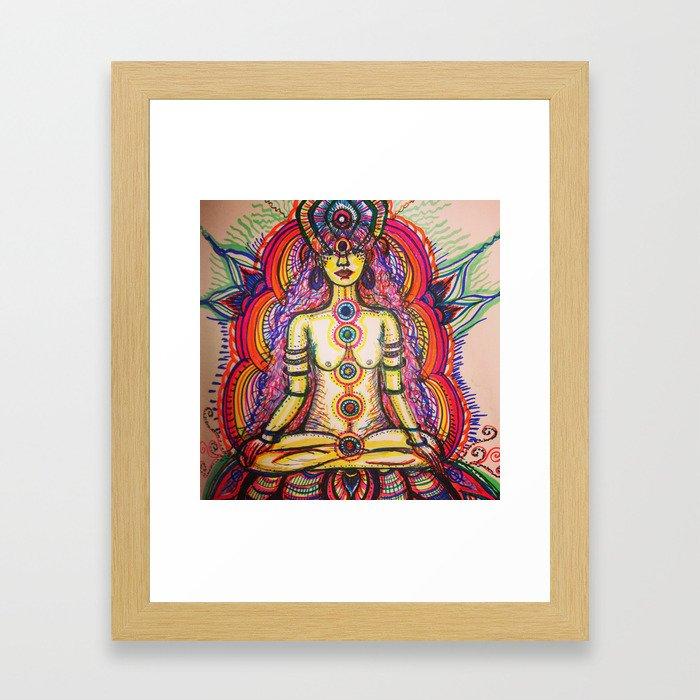 Chakra Glow Framed Art Print