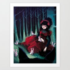 Asleep Art Print