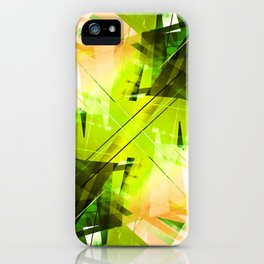 Toxic - Geometric Abstract Art iPhone Case